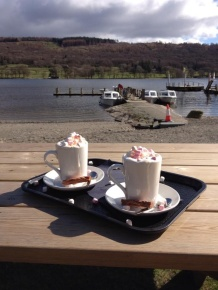Hot chocolate by the lake