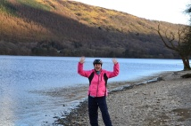 Skimming stones, I managed a niner!