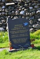 Donald Campbell's grave, Coniston Village graveyard