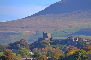 One of my own shots of Clitheroe Castle against the backdrop of Pendle Hill (c) Polka Shot Photography