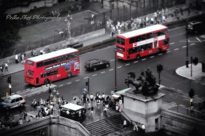 Colour splash London Bus shot ~ Polka Shot Photography