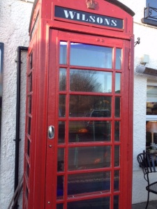 The Wilson's Arms, Torver ~ telephone kiosk aquarium 🐠