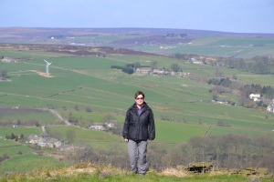 Amazing view (the moors not Suzie!)