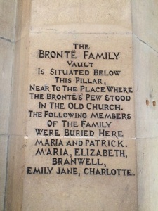 Bronte vault inside the church