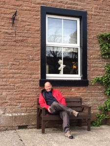 Bri outside the Troutbeck Inn