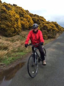 Bri on the C2C cycle path