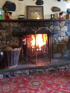 Cosy fire at the Mill Inn, Mungrisdale