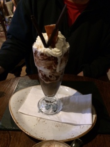 Suzie was beaten at this point, but Bri managed a cheeky Knickerbocker Glory