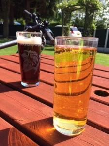 Refreshment (Hobgoblin real ale & a thirst quenching cider)