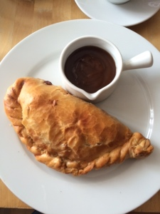 Delicious cornish pasty from The Village Bakery, Broughton-in-Furness