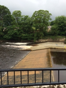 The weir on the River Tees