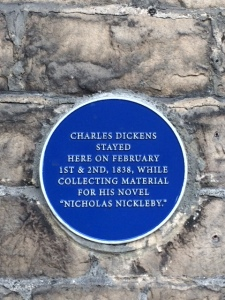 Keep an eye out for the many blue plaques adorning the town's buildings, including this one where Charles Dickens once stayed