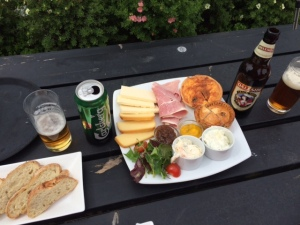 A Ripley Platter for two and a bottle of Daleside 'Crack Shot' a 17th Century Ale
