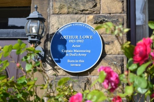 Blue plaque at Dad's Army actor Arthur Lowe's birthplace