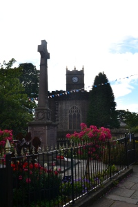Hayfield village church and war memorial