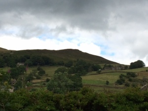View of Kinder Scout from along the Sett Valley Trail