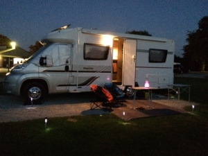 Pitched up and ready for the Perseid Meteor Shower display ... shortly before Zzzz ...