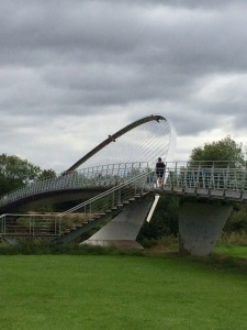 Millennium Bridge which you pass under on the way to the cycle trail