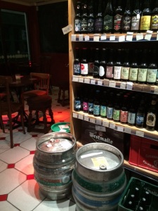 Varied selection of cask and craft ales