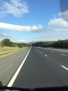 Driving into the Cumbria sunshine 🌞
