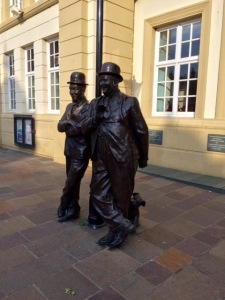 Statue outside Coronation Hall in the town centre