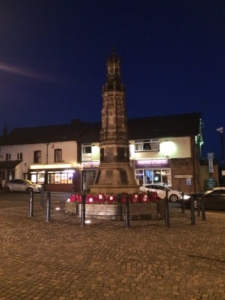 War memorial in Market Place, Uttoxeter