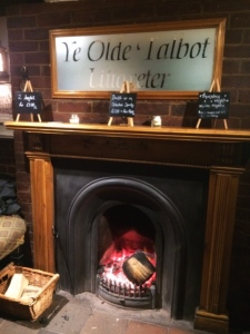 A warm welcome at the 13th Century Old Talbot Inn