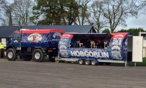 Hobgoblin mobile bar, part of the Marstons Beer Festival