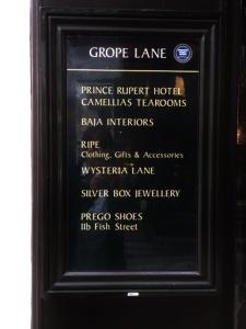 'Grope Lane' - http://www.shrewsburyguide.info/shrewsbury_tour/tour_02.shtml