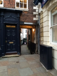 One of many old narrow passageways throughout the town