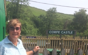 Travel back in time at Corfe Castle railway station
