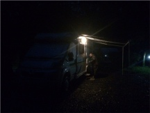 Back at Jolly to cabin up for a rainy night