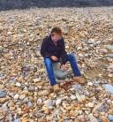 Suzie fossil hunting