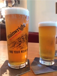 A welcome pint of Wainwright
