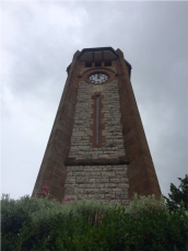 Clock tower in Grange town centre