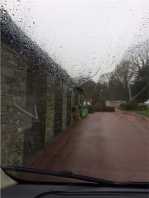 Rainy arrival at Skelwith Fold Caravan Park