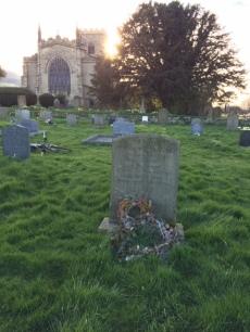 Grave of Richard Whiteley, St John the Evangelist Church, East Witton