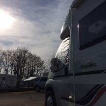Jolly pitched up on site