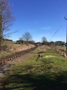 Wensleydale railway track, Harmby