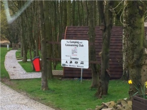 Arrival at Crowden Camping & Caravanning Club Site