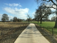 Smooth long driveway to site