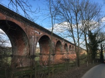 Passing Peover Viaduct en route