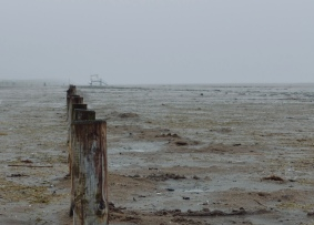 A murky day at Ainsdale beach