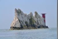 One of the chalk stack Needles and lighthouse
