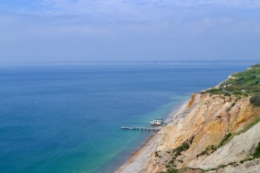 View of the bay on the way to the Needles Battery