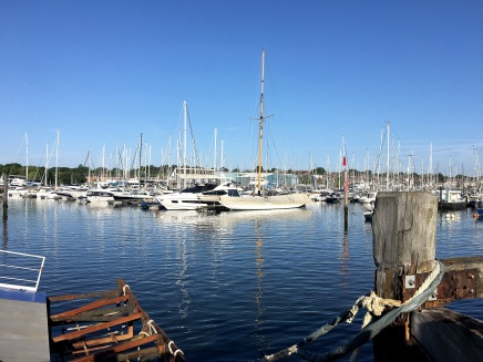 Yachts in Lymington Harbour