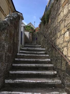 Ventnor, Latin term 'bloody steep hills' 😉