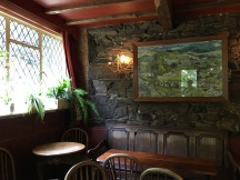 Inside the cosy, traditional bar