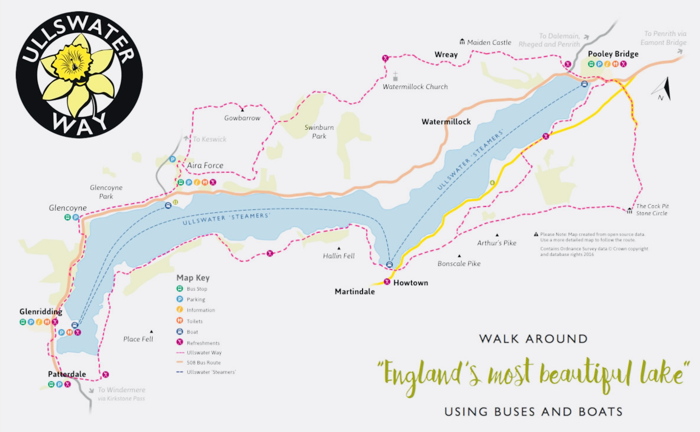 Map of the Ullswater Way