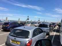 Queuing for the ferry home